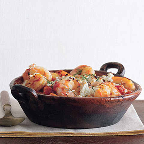 Greek-Spiced Baked Shrimp Recipe — Dishmaps