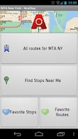 Screenshot of MTA New York City: AnyStop