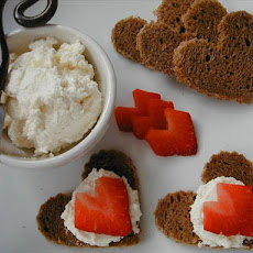 Horseradish Cheese Spread With Strawberries