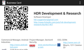Screenshot of Free Business Card