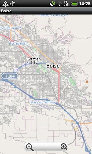 Boise Street Map