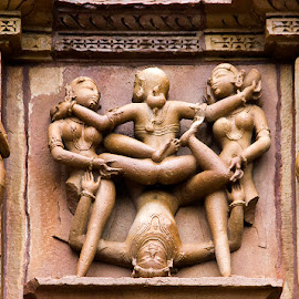 KamaSutra by Amit Aggarwal - Buildings & Architecture Statues & Monuments ( monuments, sculptures, xxx, kamasutra, mp, sex, statues, khajuraho, stone work, india, adult )