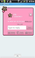 Screenshot of GO SMS THEME/BrnPinkZebra