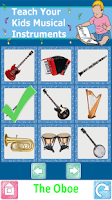 Screenshot of Teach Kids Musical Instruments