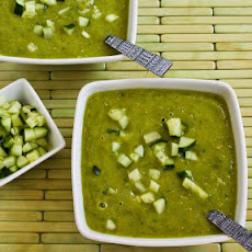 Green Zebra Gazpacho with Cucumber and Avocado