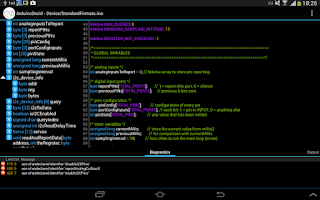 Screenshot of ArduinoDroid - Arduino IDE
