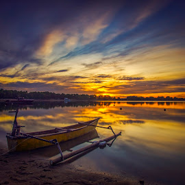 .. burning .. by Rizki Mahendra - Transportation Boats ( landscape, beach )