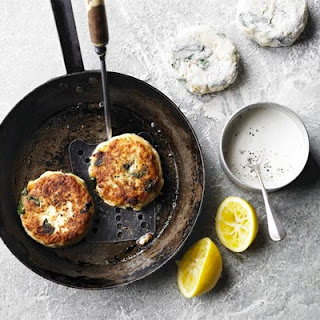 Crushed New Potato Fish Cakes With Horseradish Mayonnaise