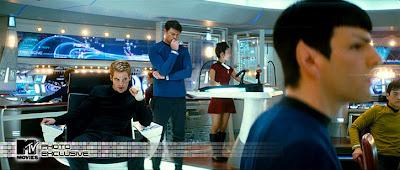 interior da nave.Filme novo Jornada nas estrelas 2009