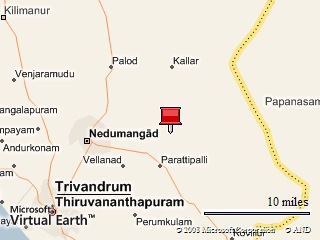 Location Map of Neyyar.