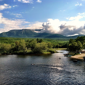 Katahdin by Lou Plummer - Instagram & Mobile iPhone ( water, appalachian trail, mountain, maine, at, river, katahdin )
