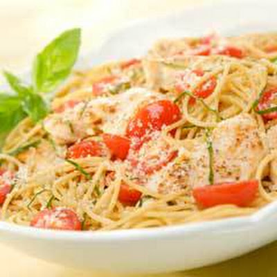 Summer Chicken & Basil Pasta