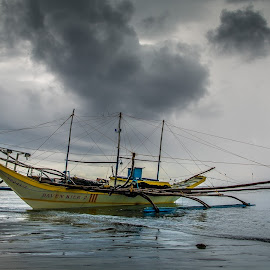 Ready For Fishing by Nick Foster - Transportation Boats ( fish, sea, ocean, boat, rain )