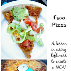 Taco Pizza (A Lesson in Using Leftovers)
