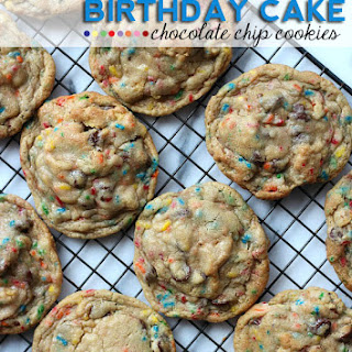 Birthday Cake Chocolate Chip Cookies