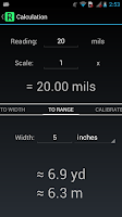 Screenshot of Mil Rangefinder