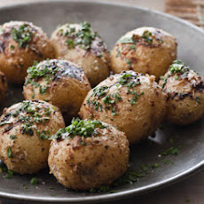 Mustard Aioli-Grilled Potatoes with Fines Herbes