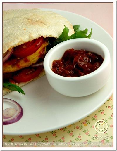 Batata Vada (05) Tomato Tamarind Chutney by MeetaK