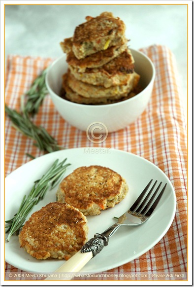 Millet Veggie Cakes (01) by MeetaK