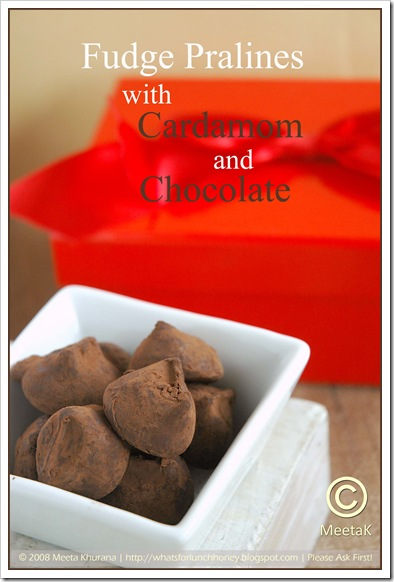 Chocolate Pralines with Cardamom and Chocolate (02) by MeetaK