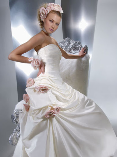 Rose Wedding Dress Roses