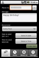 Screenshot of Textalert Plus - SMS Reminder