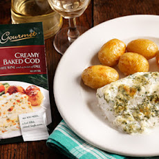 Creamy baked Cod with White Wine and a twist of Dill