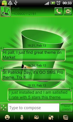 St Patricks Day GO SMS Pro thm
