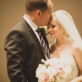 MS by Maryann Burrows - Wedding Bride & Groom ( kiss, wedding, bride, groom, portrait )