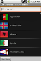 Screenshot of Countries Memory Game