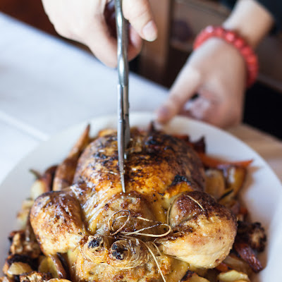 A Tuscan Christmas lunch – Stuffed roast chicken