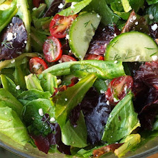 Simplest Greek Salad with Lemon- Oregano Vinaigrette