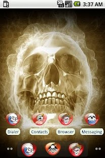 Angry Skull [SQTheme] for ADW - screenshot