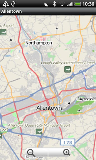 Allentown PA Street Map