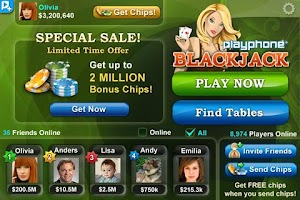 Screenshot of Blackjack Plus!