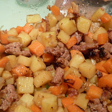 Sausage, Potato and Carrot One-Dish Supper
