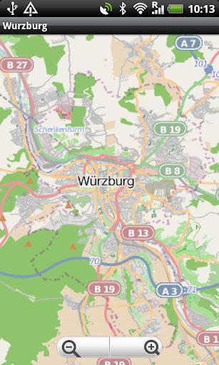 Würzburg Street Map