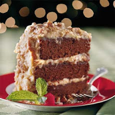 Chocolate Velvet Cake With Coconut-Pecan Frosting