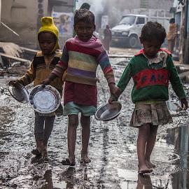 walking together holding hands by Shuvarthy Chowdhury - Babies & Children Children Candids ( walking, hands, holding, together )