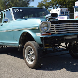 Long Roof High Boy by Kevin Dietze - Transportation Automobiles ( drag racing, nova, long roof, racing, chevy ii, hi boy )
