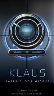 KLAUS Laser Clock Widget - screenshot