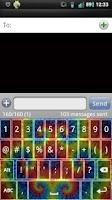 Screenshot of Tie Dye Keyboard Skin