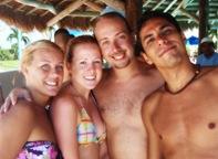 Heather, Jaime, eu e Federico...