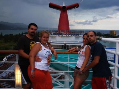 Os casalinhos, o Conquest e a Jamaica... quem diria que iriam juntar-se todos numa só foto!