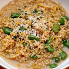 Dinner Tonight: Brown Risotto with Summer Squash, Favas, and Mint