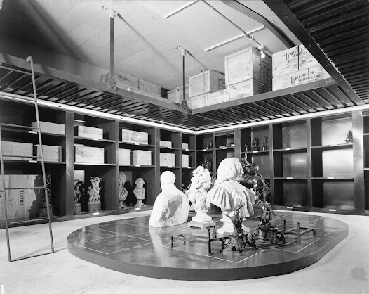 View of sculptures stored in the New Vault.