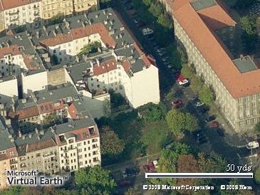 Blick auf das Grundstück Gleimstraße 50