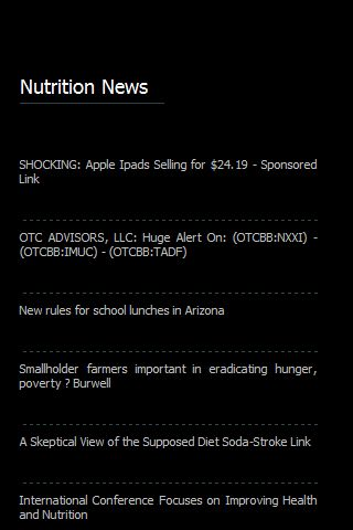 【免費健康App】Nutrition News-APP點子