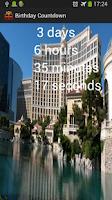 Screenshot of Birthday Countdown