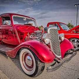 Red Sedan by Ron Meyers - Transportation Automobiles